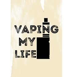 The poster or emblem with an electronic cigarette vector