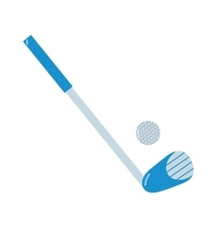 Golf putter and golf ball on white vector