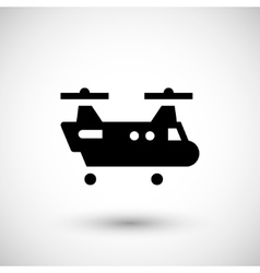 Dual rotor helicopter icon vector