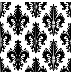 Vintage fleur-de-lis seamless background pattern vector