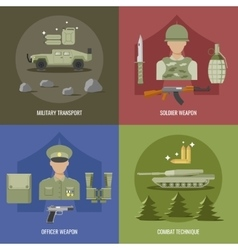 Army Flat Design vector image