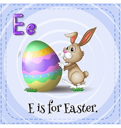 A letter e for easter vector