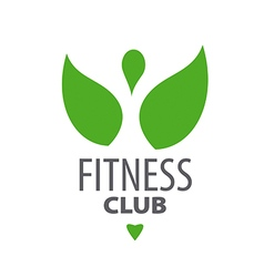 abstract green logo for fitness club vector image vector image