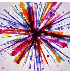 Abstract hand drawn watercolor background firework vector image vector image