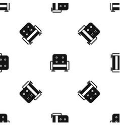 armchair pattern seamless black vector image