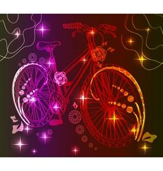 Background with bike over dark vector image