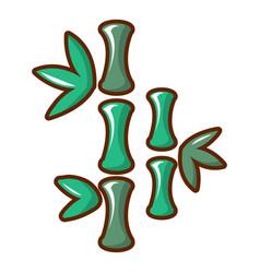 Bamboo icon cartoon style vector