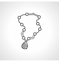 Black icon for necklace vector image