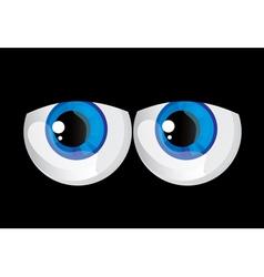 Bulging eyes vector