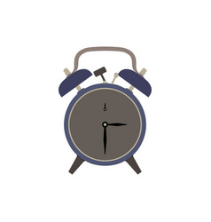 clock alarm icon time wake background isolated vector image vector image