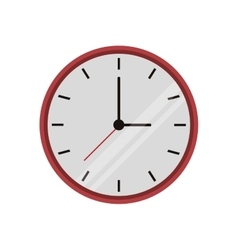 Clock time watch work icon vector