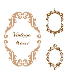 collection elegance vintage style frame vector image vector image