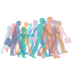colorful crowd of people vector image
