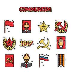 communism cartoon concept icons vector image