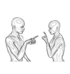 couple arguing vector image
