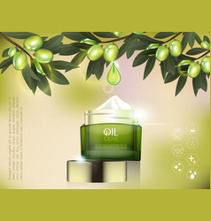 cream jar skin care product package vector image
