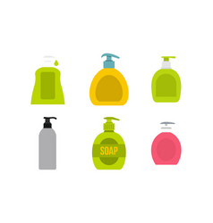 dispenser icon set flat style vector image