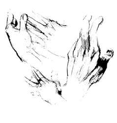 hands sketches vector image vector image