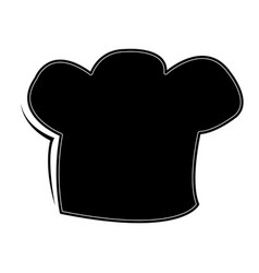 isolated toque silhouette vector image