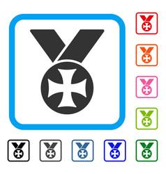Maltese medal framed icon vector