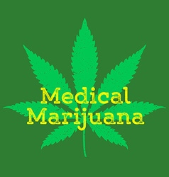 medical cannabis marijuana abstract sign vector image