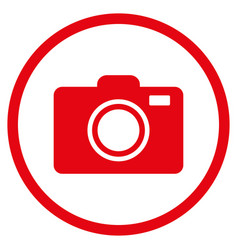 photo camera rounded icon vector image