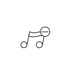 Remove music note icon vector