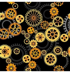 Seamless background - gears vector