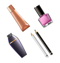 Set of female cosmetics vector