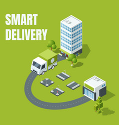 smart delivery concept vector image vector image