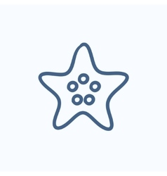 Starfish sketch icon vector image vector image
