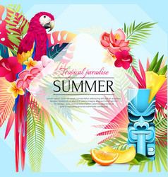 summer tropical paradise background vector image vector image