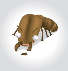 Termite cartoon character vector
