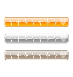 three web buttons vector image vector image
