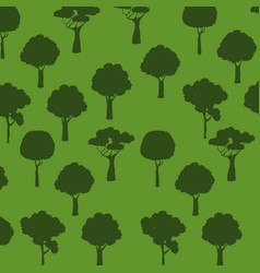 Tree green plant semaless pattern vector
