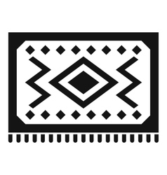 Turkish carpet icon simple style vector