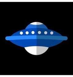 UFO flat icon vector image vector image