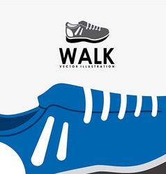 walk design vector image vector image