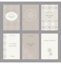 Wedding Invitation Templates vector image
