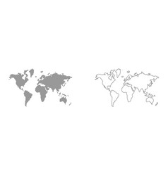 world map set icon vector image vector image