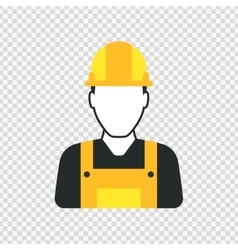 Workman with helmet person icon vector