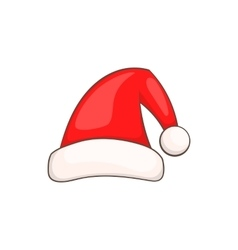 Santa claus red hat icon cartoon style vector