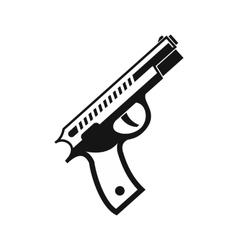 Gun icon in simple style vector