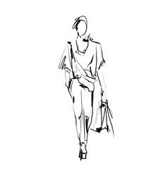 Fashion model sketch vector