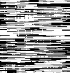 Abstract black and white background with glitch vector