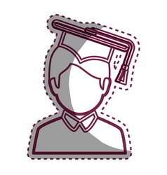 graduated avatar character emblem vector image