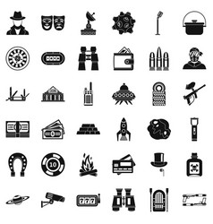 Active games icons set simple style vector