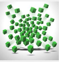 Green cubes vector