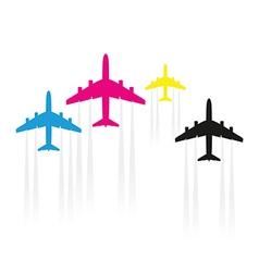 cmyk planes vector image