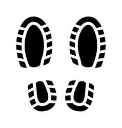Imprint shoes vector